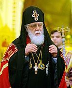 Патриаршее поздравление Предстоятелю Грузинской Православной Церкви Илии II с 30-летием Патриаршей интронизации и 75-летием со дня рождения